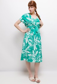 NOÉMIE & CO tropical midi dress