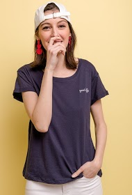 "NOÉMIE & CO t-shirt mit ""good life"" stickerei"