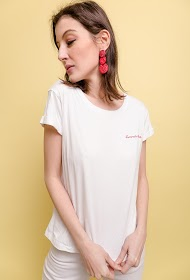 "NOÉMIE & CO t-shirt met borduursel ""summer vibes"""
