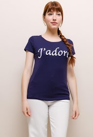 NOÉMIE & CO embroidered t-shirt j'adore