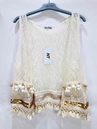 NT FASHION sleeveless lace cardigan