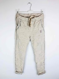 NT FASHION calças com faixas laterais