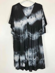 NT FASHION short tie and dye dress