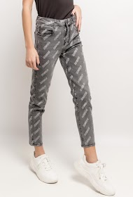 QUEEN HEARTS printed jeans