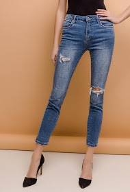 QUEEN HEARTS ripped skinny jeans