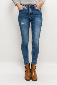 QUEEN HEARTS washed jeans