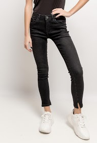 QUEEN HEARTS skinny pants with slits