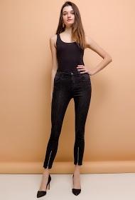 QUEEN HEARTS skinny pants with zips