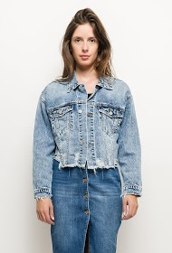 QUEEN HEARTS short denim jacket