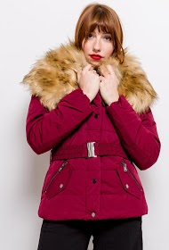 REDIAL down jacket with fur collar