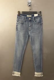 REDIAL skinny jeans with bottom leg details