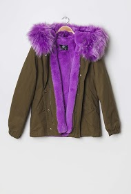 REDIAL coat with fur