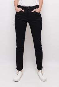 SIMPLY CHIC pantalon slim grante taille