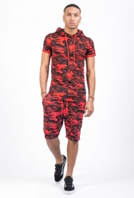 SIXTH JUNE t-shirt camouflage capuche sixth june rouge