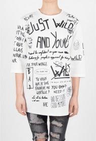 SIXTH JUNE t-shirt gerade wild 6. juni femme übergröße blanc 1758c