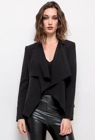 SOFTY waterfall collar blazer