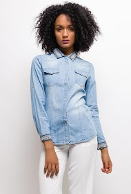 SOFTY shirt and collar with ethnic detail