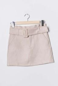SOFTY short skirt in suedine