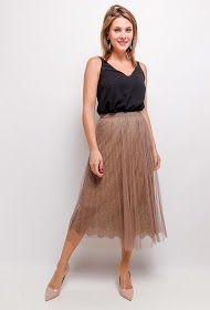 SOFTY tulle midi skirt