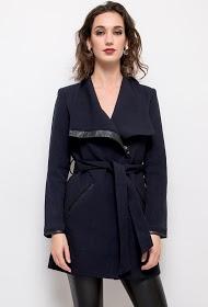 SOFTY manteau ceinturé