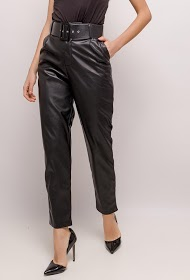 SOFTY faux leather pants