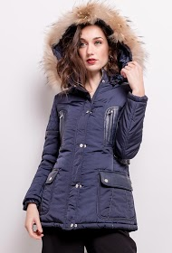 SOFTY hooded parka with removable fur