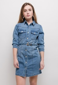 SOFTY denim shirt dress