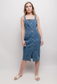 SOFTY denim overall dress