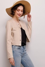SOFTY short suede effect jacket