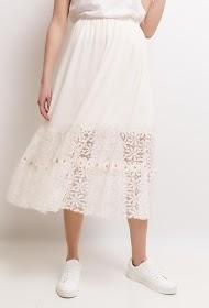 SOKY & SOKA midi skirt with lace