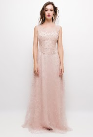 SOKY & SOKA evening dress with sequins