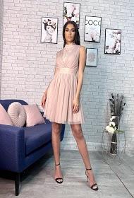 SOKY & SOKA robe élégante en dentelle