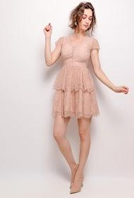 SOKY & SOKA vestido femenino sin mangas, encaje