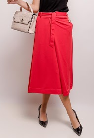 SOPHYLINE belt midi skirt