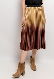 SOPHYLINE velvet pleated skirt
