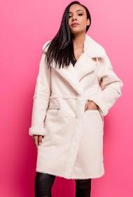 SOPHYLINE suede effect coat