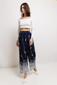 SOPHYLINE wide printed trousers