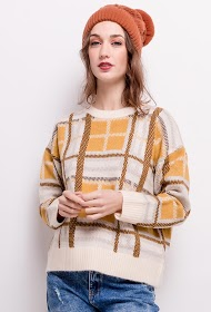 SOPHYLINE checkered sweater