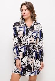 SOPHYLINE robe chemise à motifs