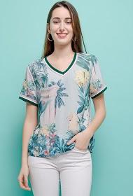 SOVOGUE tropical blouse