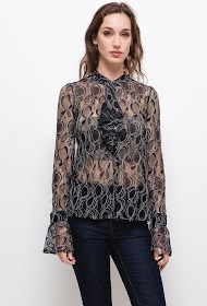 SOVOGUE lace shirt