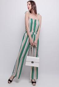 SOVOGUE striped jumpsuit
