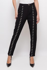 SOVOGUE wide trousers with hooks