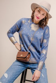 SOVOGUE bright pattern sweater