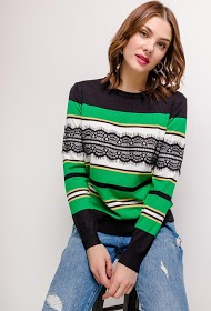 SOVOGUE sweater with lace