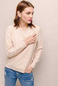 SOVOGUE pullover with lace