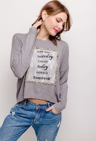 SOVOGUE sweater with message