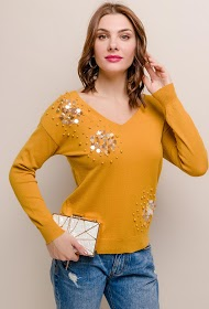 SOVOGUE sweater with sequins