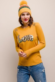 SOVOGUE love sweater with sequins