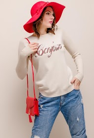 SOVOGUE hello sweater with sequins